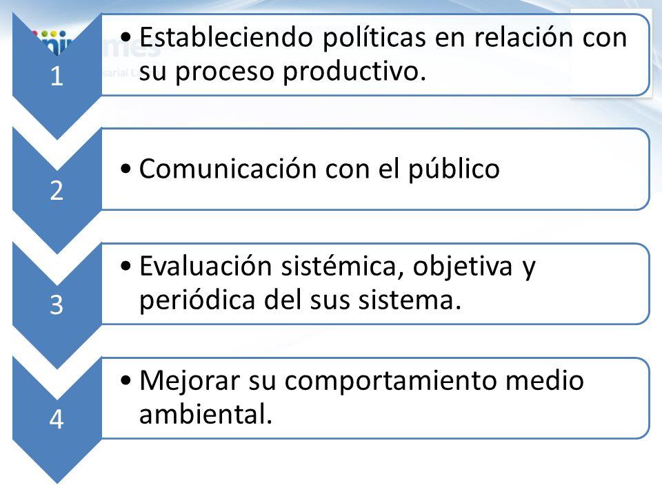 Estableciendo políticas en relación con su proceso productivo.