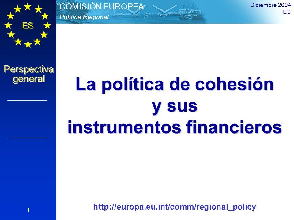 La política de cohesión instrumentos financieros