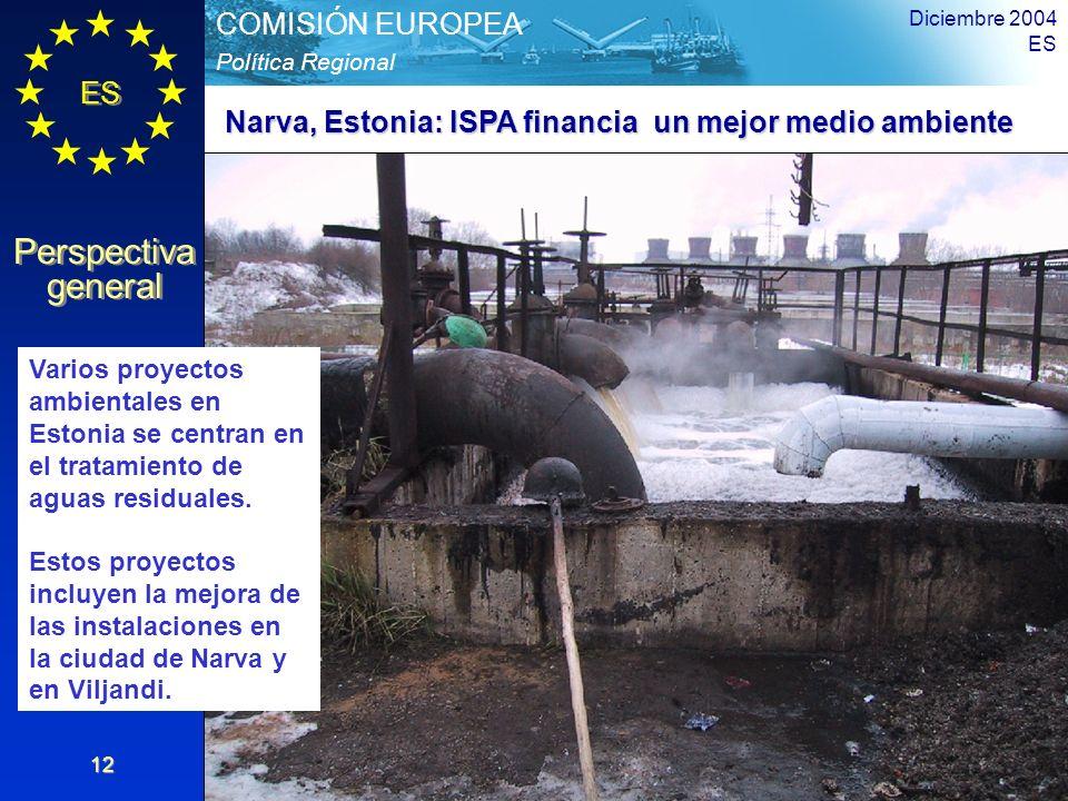 Narva, Estonia: ISPA financia un mejor medio ambiente