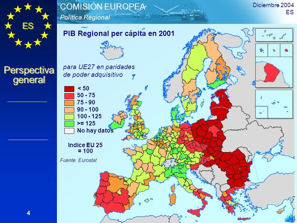 PIB Regional per cápita en 2001
