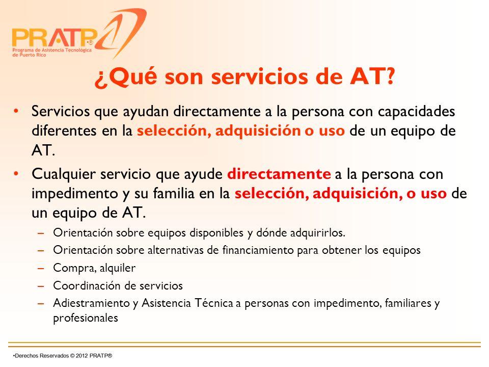 ¿Qué son servicios de AT