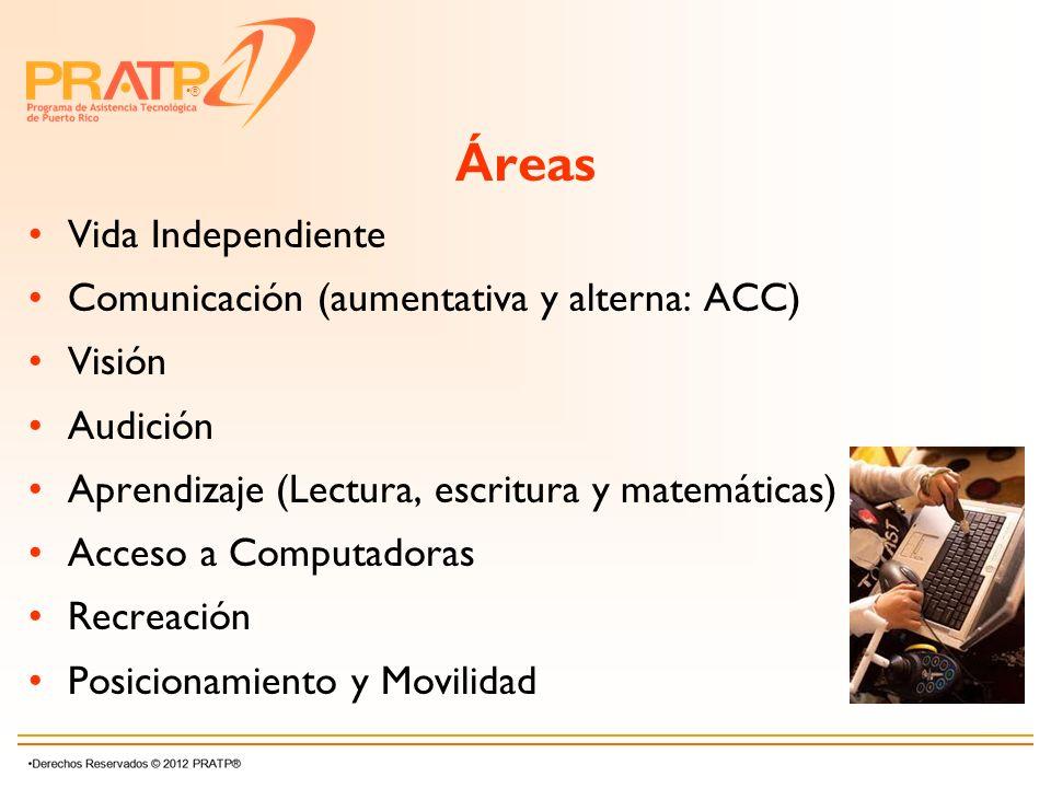 Áreas Vida Independiente Comunicación (aumentativa y alterna: ACC)