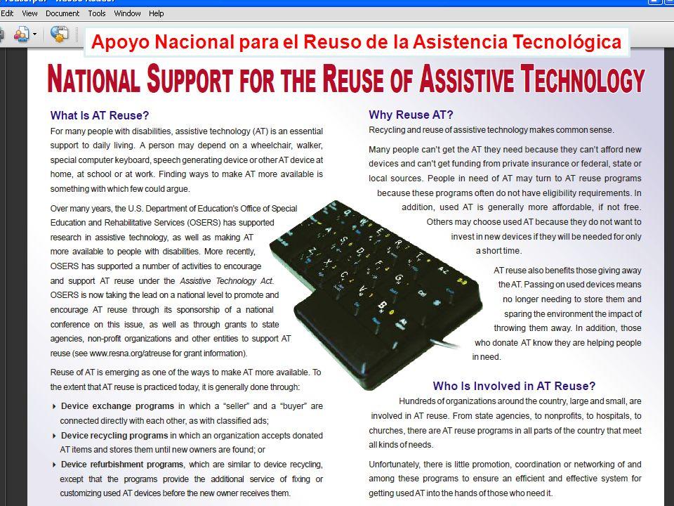 Apoyo Nacional para el Reuso de la Asistencia Tecnológica
