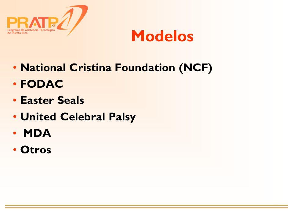 Modelos National Cristina Foundation (NCF) FODAC Easter Seals