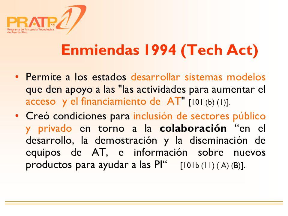 Enmiendas 1994 (Tech Act)