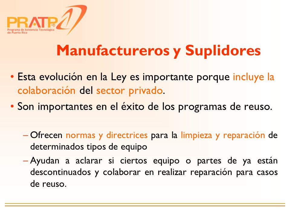 Manufactureros y Suplidores