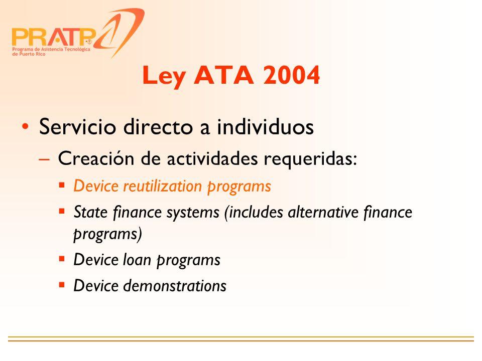 Ley ATA 2004 Servicio directo a individuos