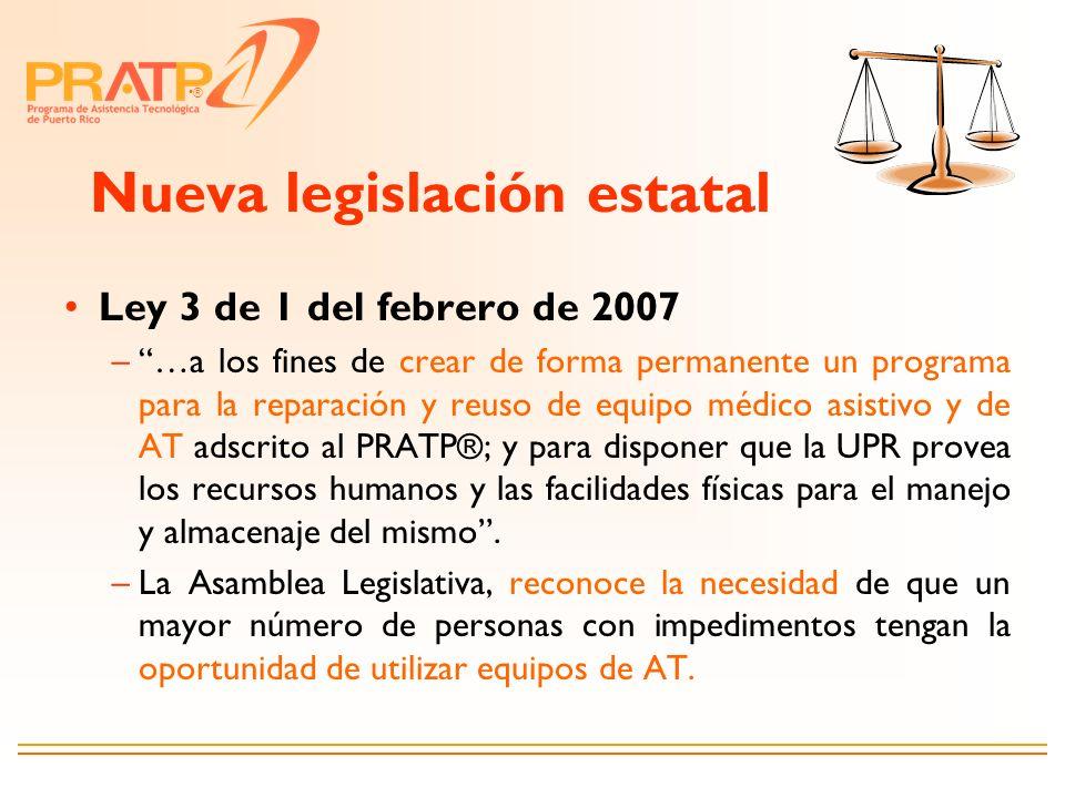 Nueva legislación estatal