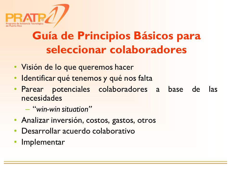 Guía de Principios Básicos para seleccionar colaboradores