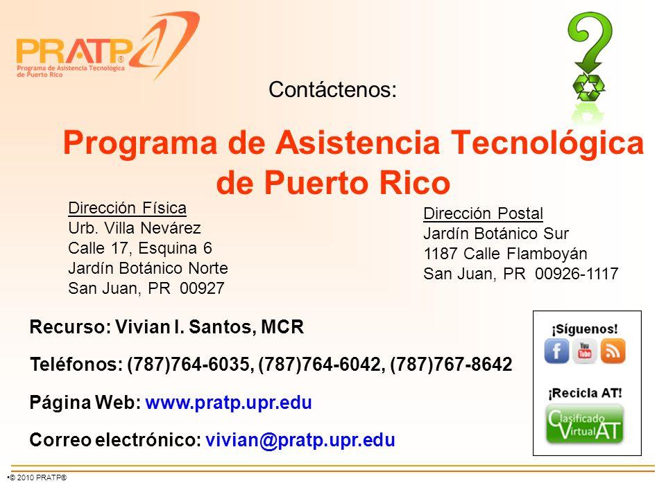 Contáctenos: Programa de Asistencia Tecnológica de Puerto Rico