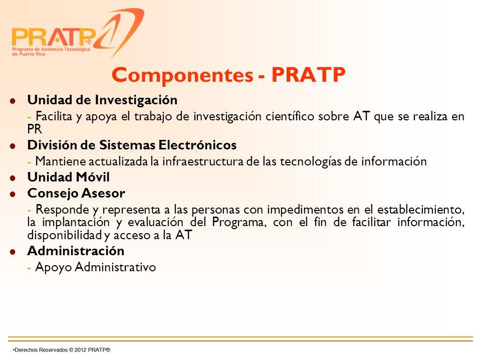 Componentes - PRATP Unidad de Investigación