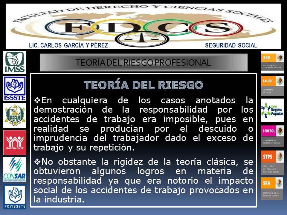 TEORÍA DEL RIESGO PROFESIONAL