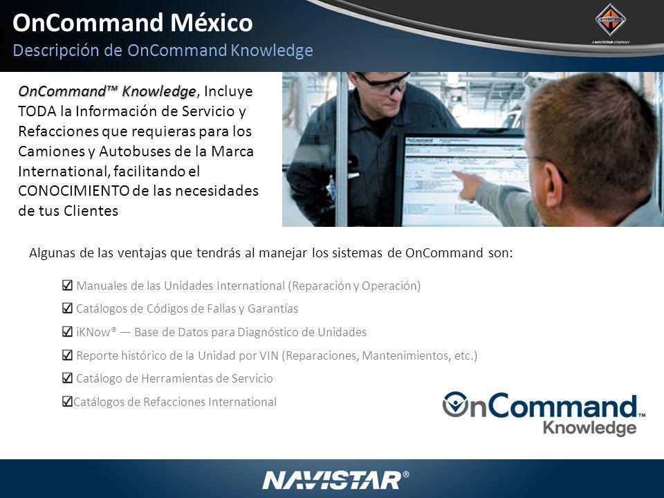 OnCommand México Descripción de OnCommand Knowledge