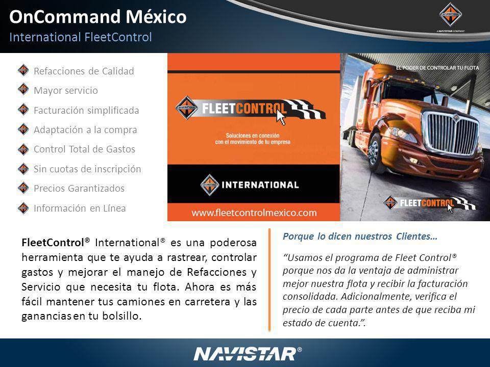 OnCommand México International FleetControl