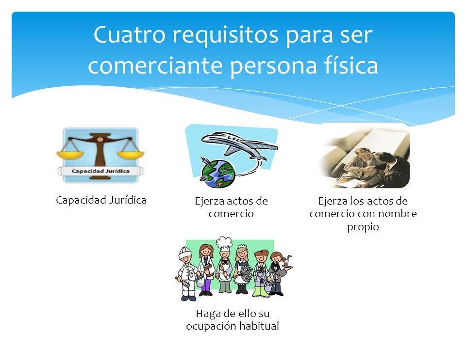 Cuatro requisitos para ser comerciante persona física