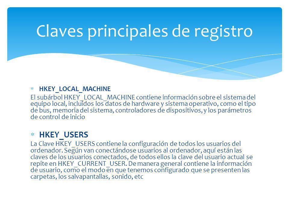 Claves principales de registro