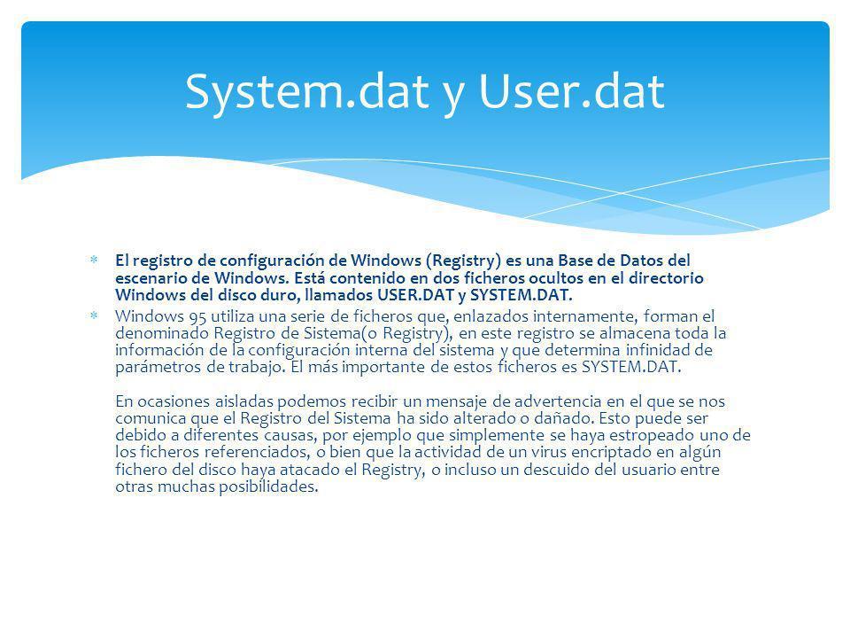 System.dat y User.dat