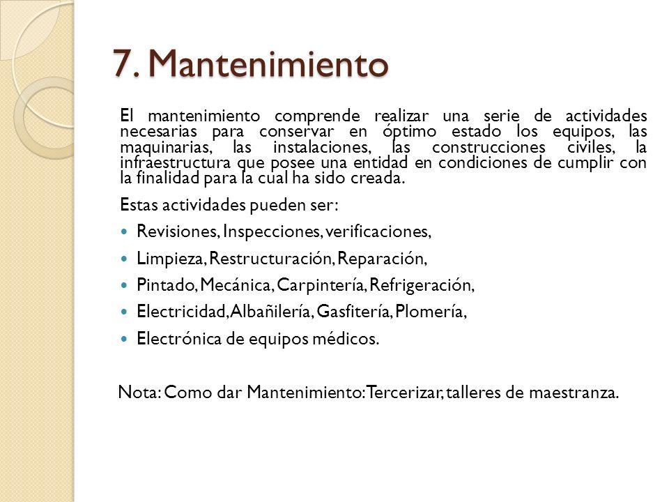 7. Mantenimiento