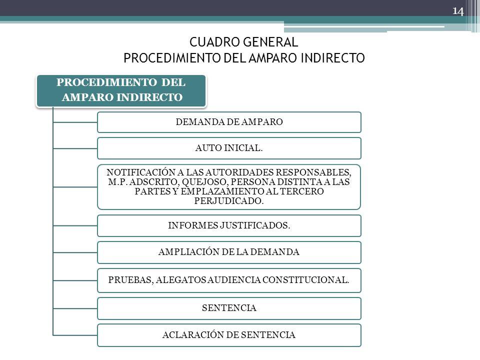 CUADRO GENERAL PROCEDIMIENTO DEL AMPARO INDIRECTO