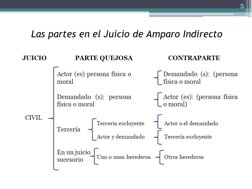 Las partes en el Juicio de Amparo Indirecto