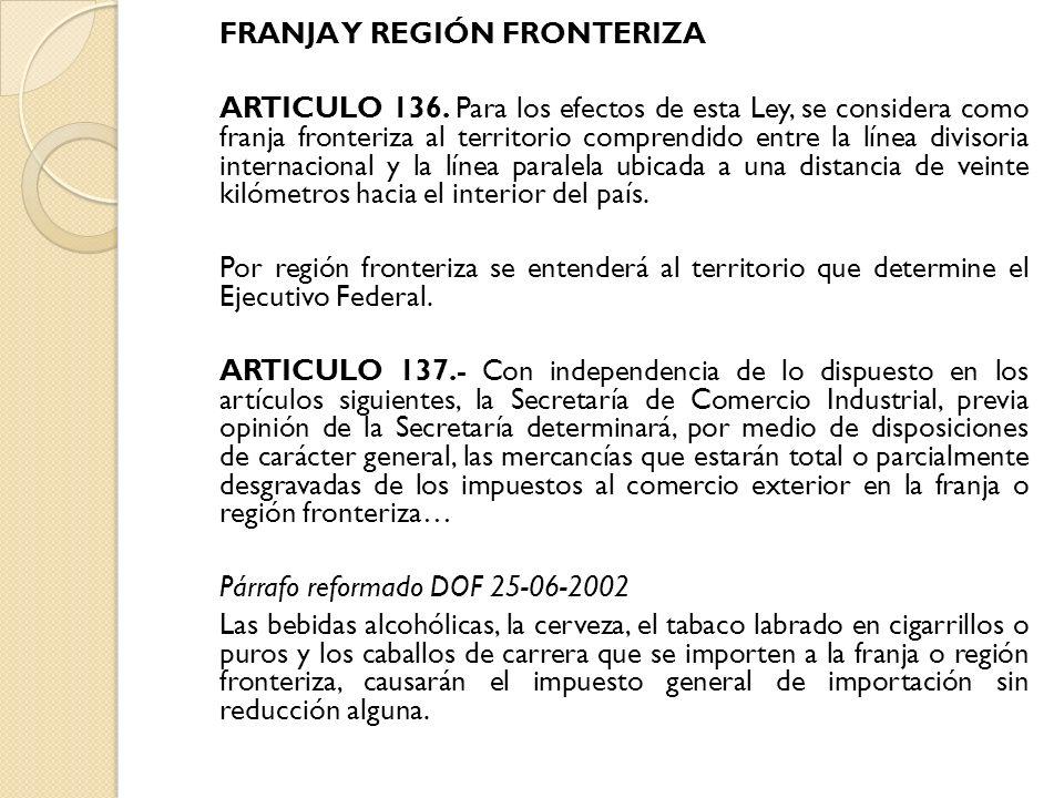 FRANJA Y REGIÓN FRONTERIZA