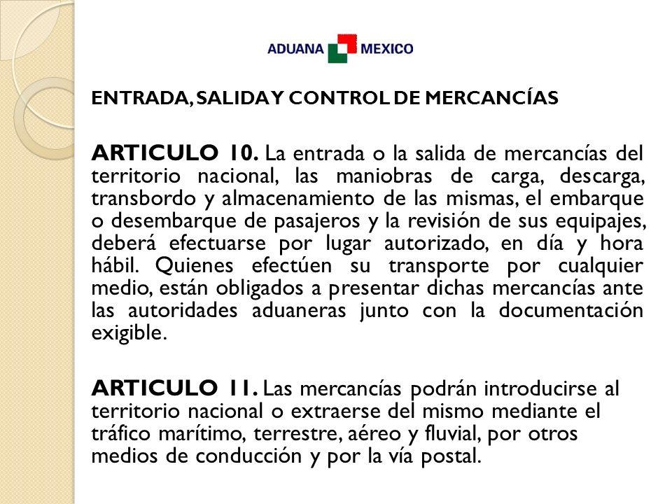 ENTRADA, SALIDA Y CONTROL DE MERCANCÍAS