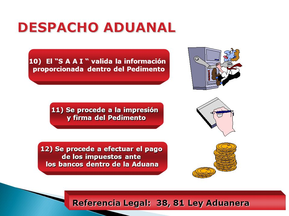 DESPACHO ADUANAL Referencia Legal: 38, 81 Ley Aduanera