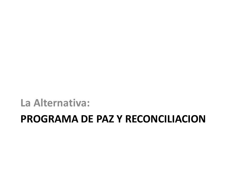 PROGRAMA DE PAZ Y RECONCILIACION