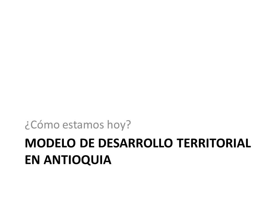 Modelo de desarrollo territorial en Antioquia