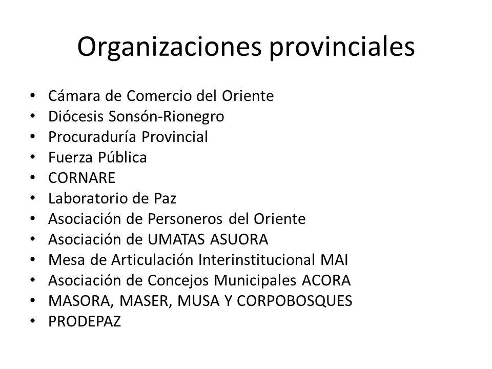 Organizaciones provinciales
