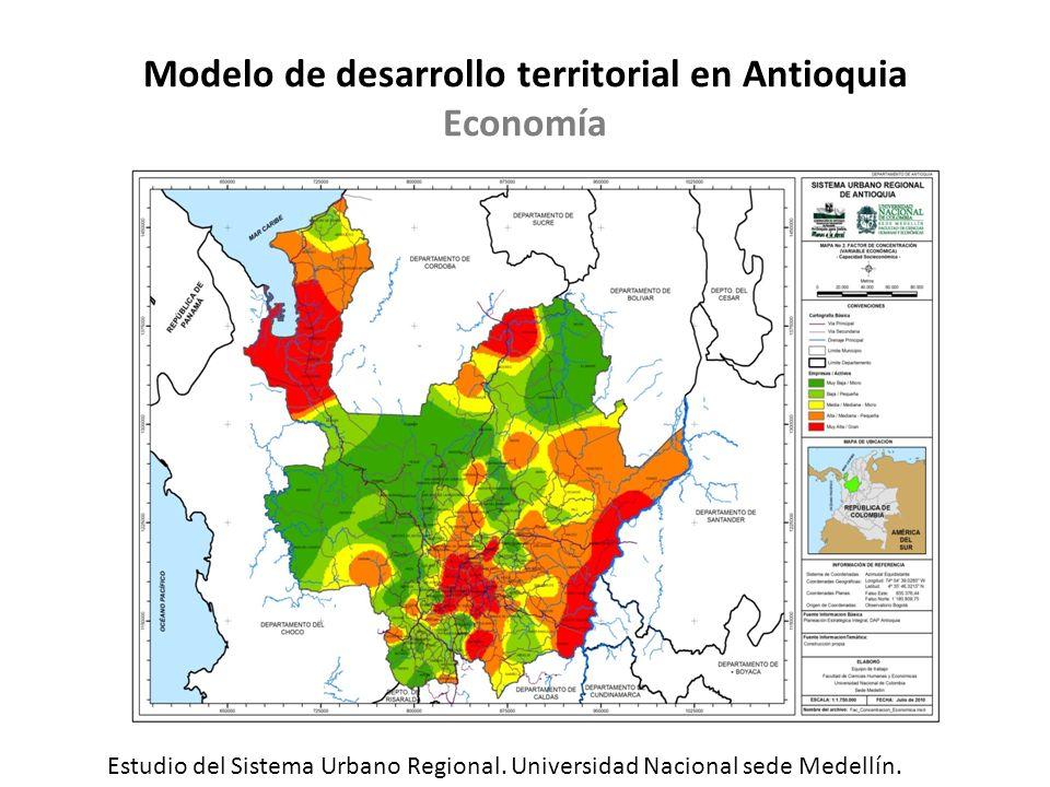 Modelo de desarrollo territorial en Antioquia Economía