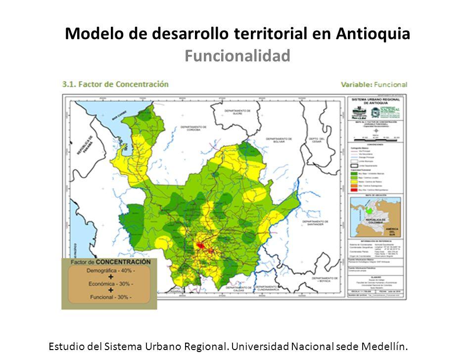 Modelo de desarrollo territorial en Antioquia Funcionalidad
