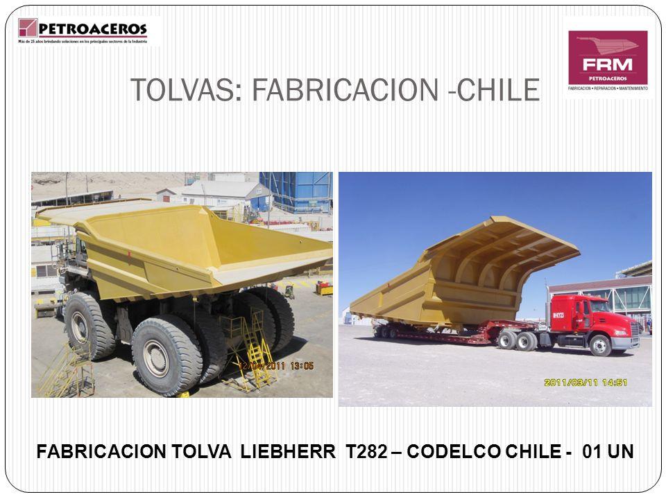 FABRICACION TOLVA LIEBHERR T282 – CODELCO CHILE - 01 UN