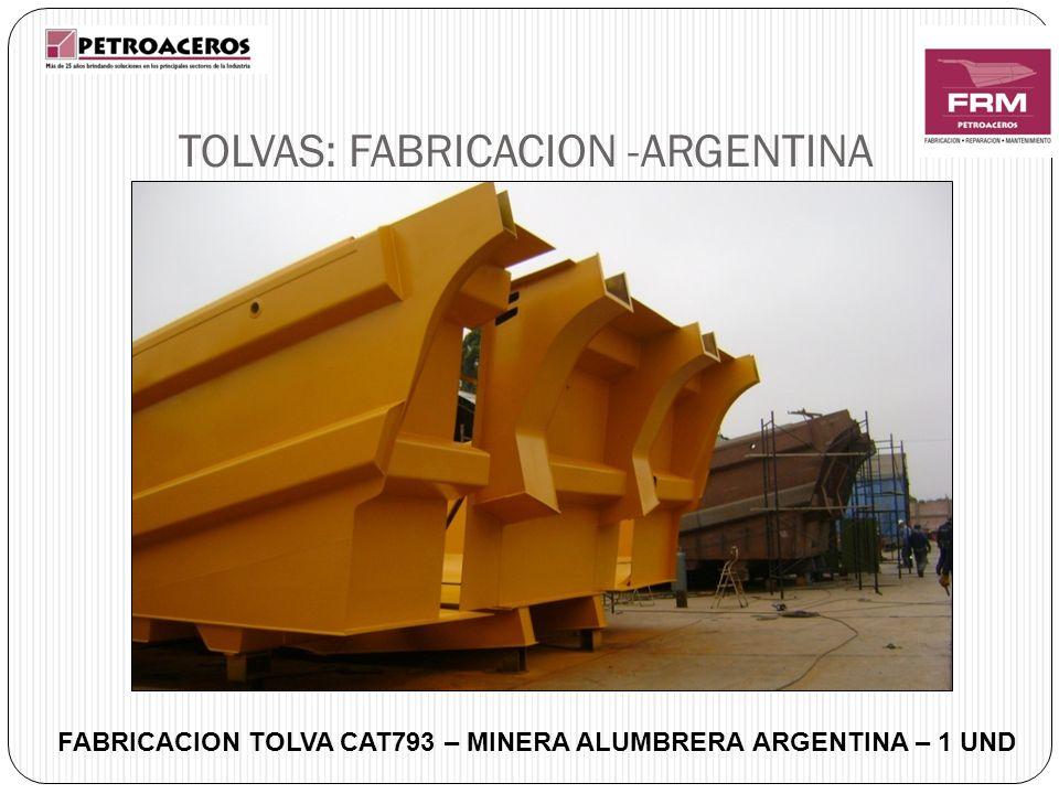 TOLVAS: FABRICACION -ARGENTINA