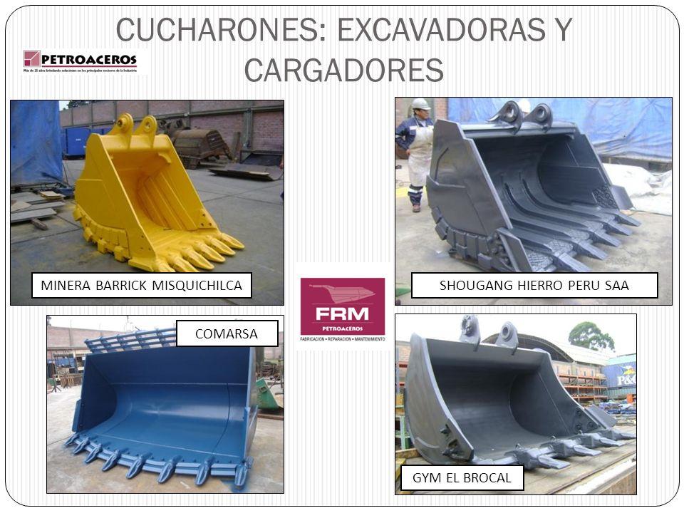 CUCHARONES: EXCAVADORAS Y CARGADORES