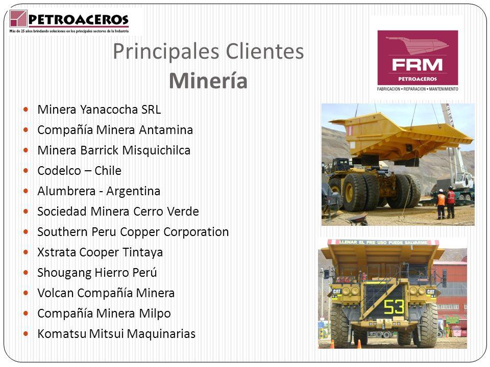 Principales Clientes Minería