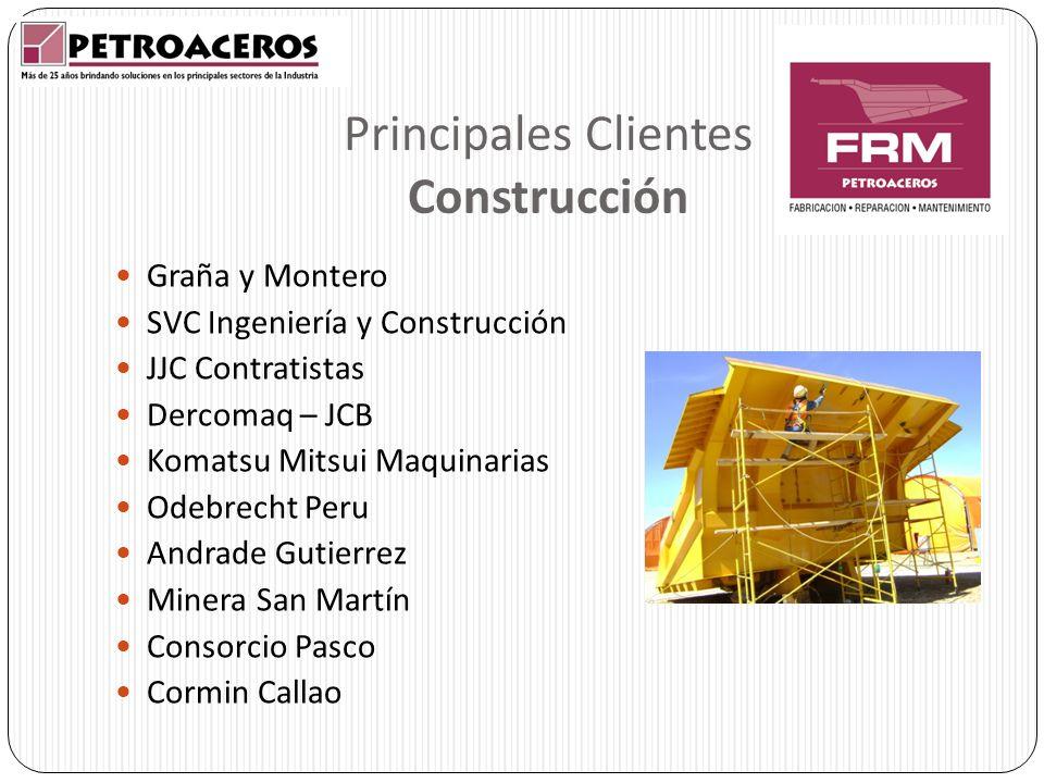 Principales Clientes Construcción