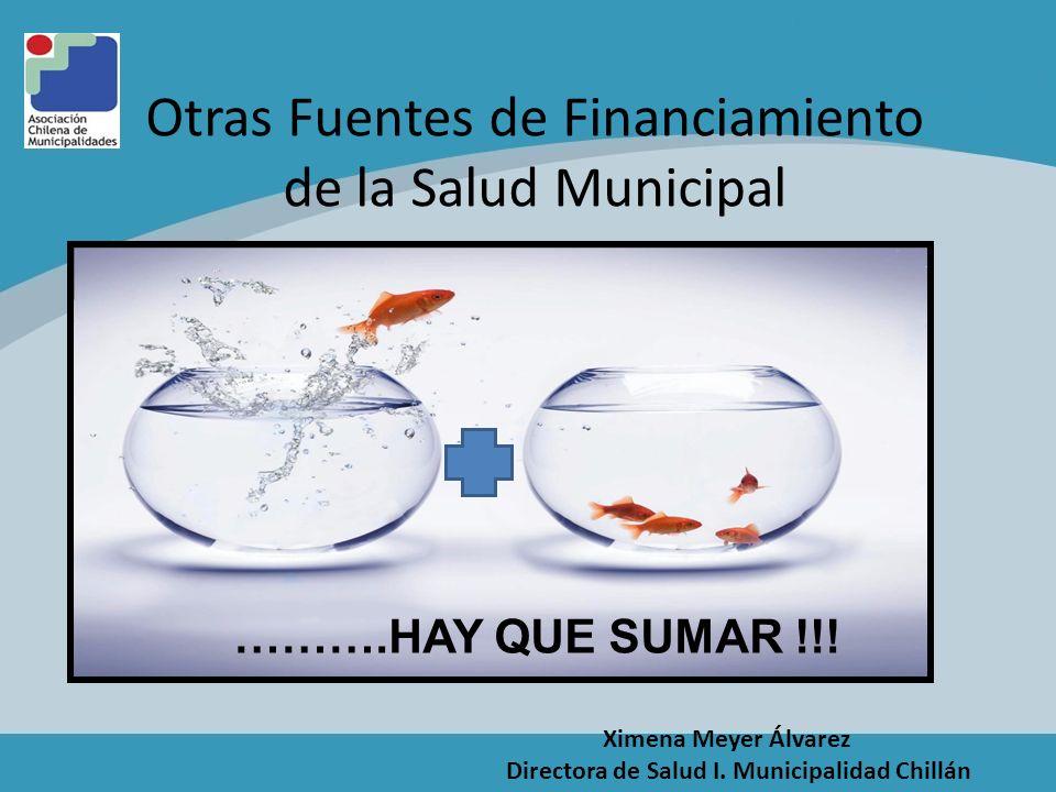 Otras Fuentes de Financiamiento de la Salud Municipal