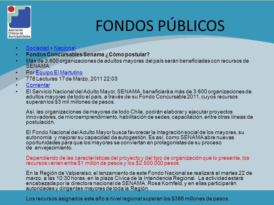 FONDOS PÚBLICOS Sociedad » Nacional