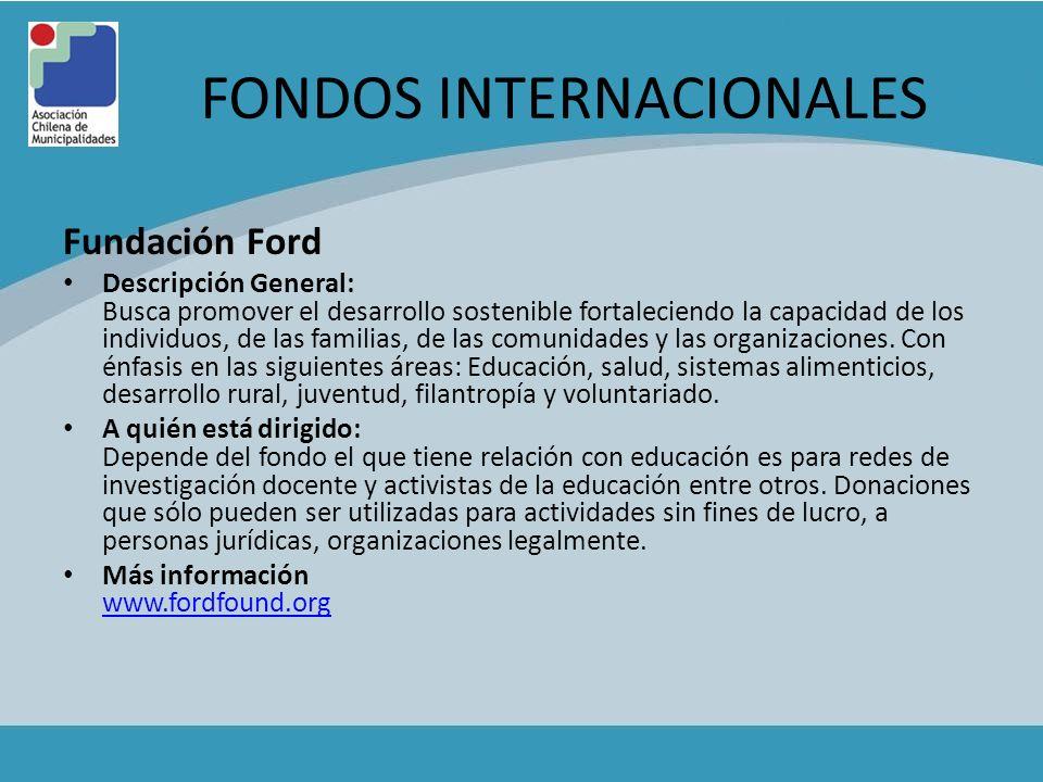 FONDOS INTERNACIONALES