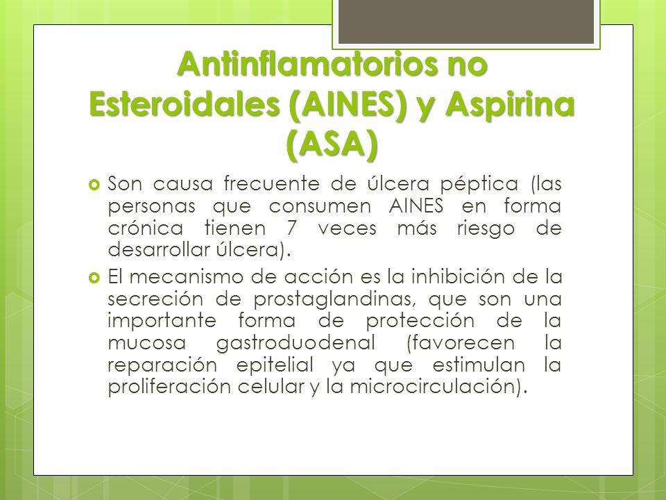 Antinflamatorios no Esteroidales (AINES) y Aspirina (ASA)