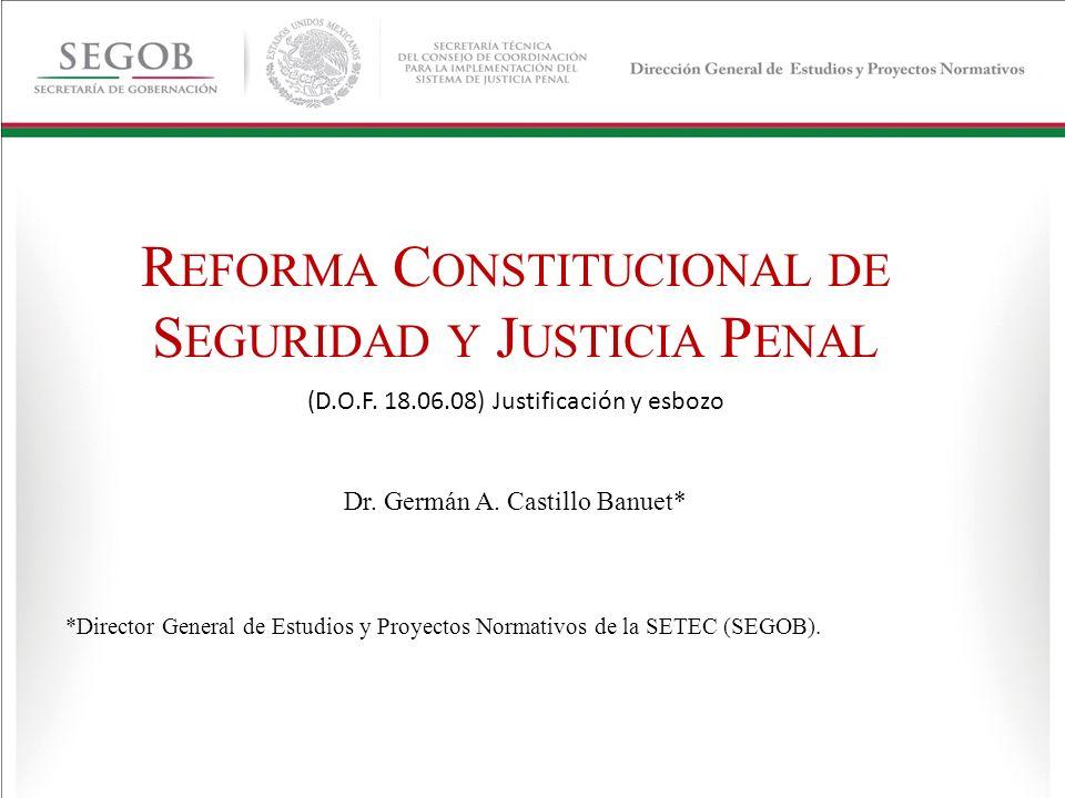 REFORMA CONSTITUCIONAL DE SEGURIDAD Y JUSTICIA PENAL