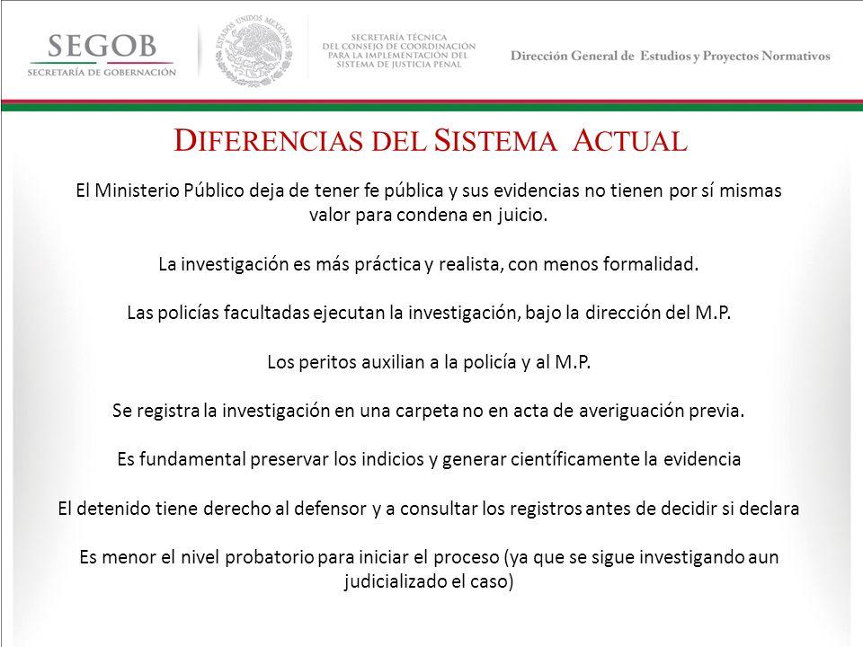 DIFERENCIAS DEL SISTEMA ACTUAL