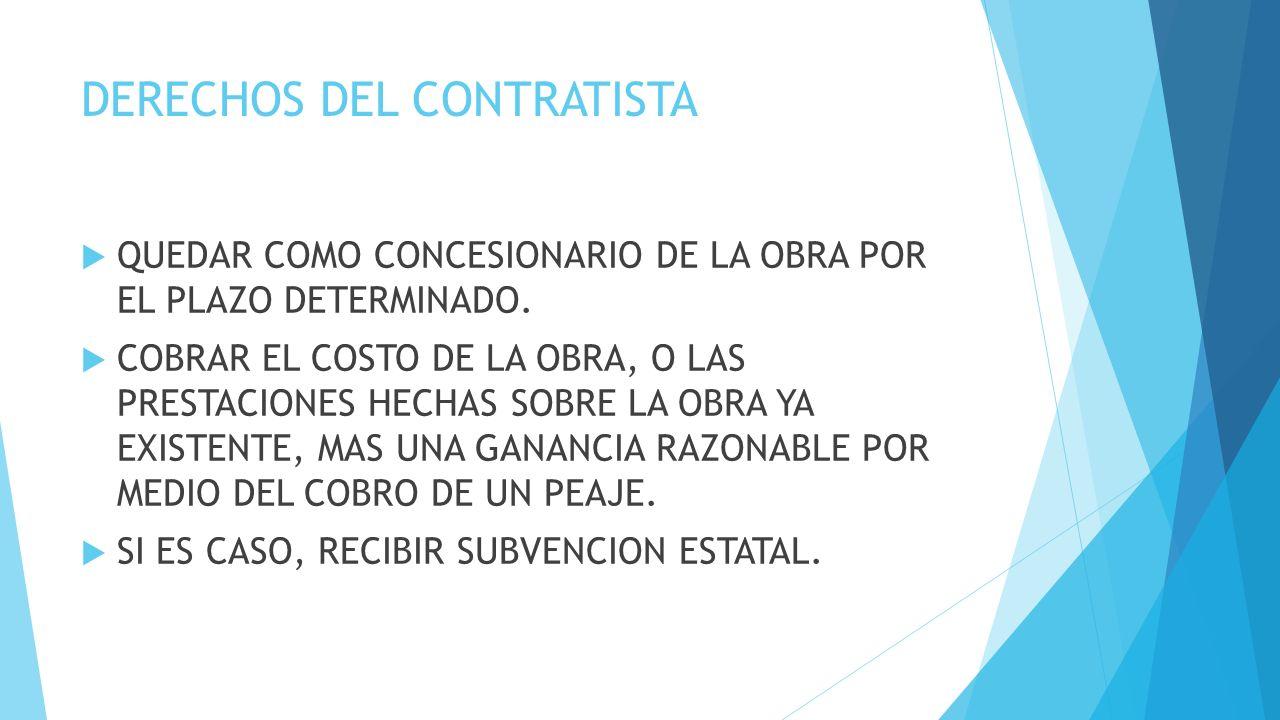 DERECHOS DEL CONTRATISTA