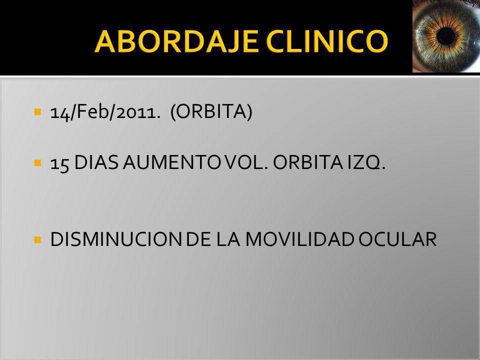 ABORDAJE CLINICO 14/Feb/2011. (ORBITA)