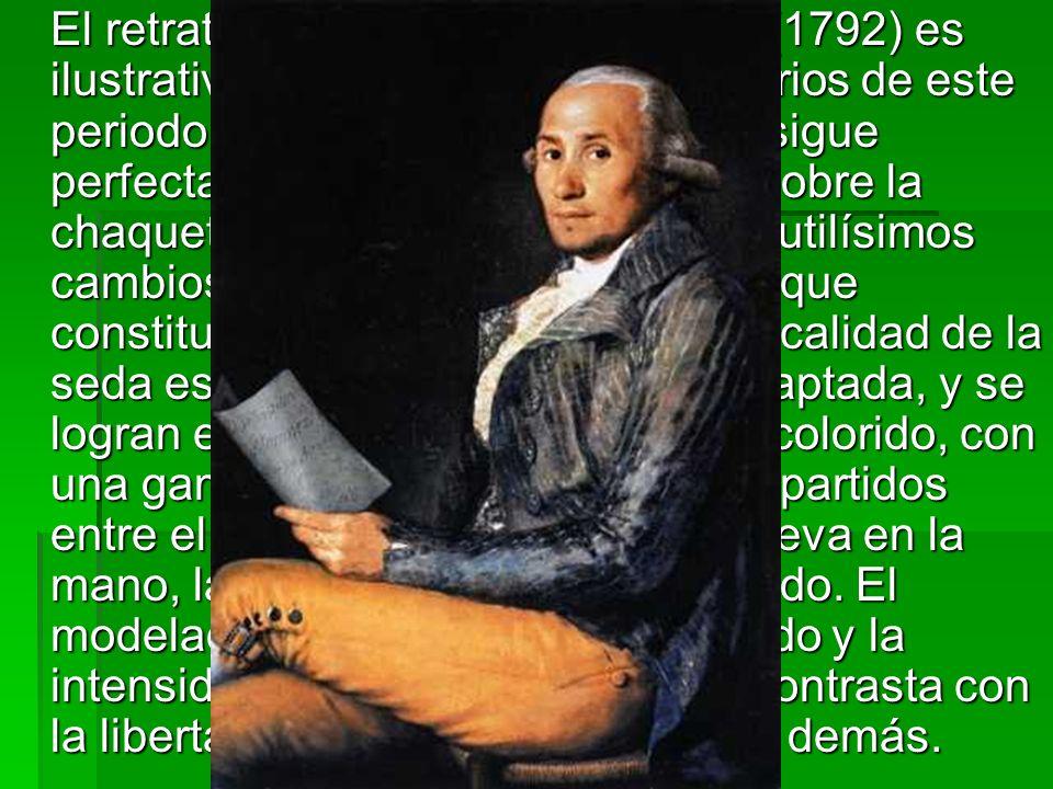 El retrato de Sebastián Martínez (1792) es ilustrativo de los logros extraordinarios de este periodo.