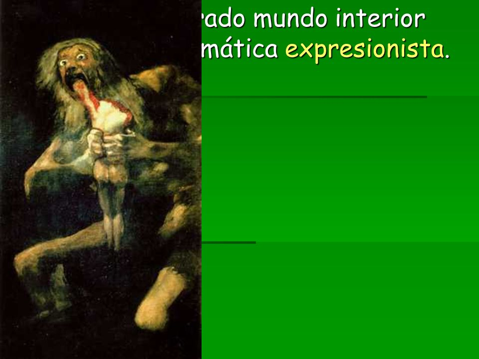 2.3. Y su desgarrado mundo interior abre paso a la temática expresionista.