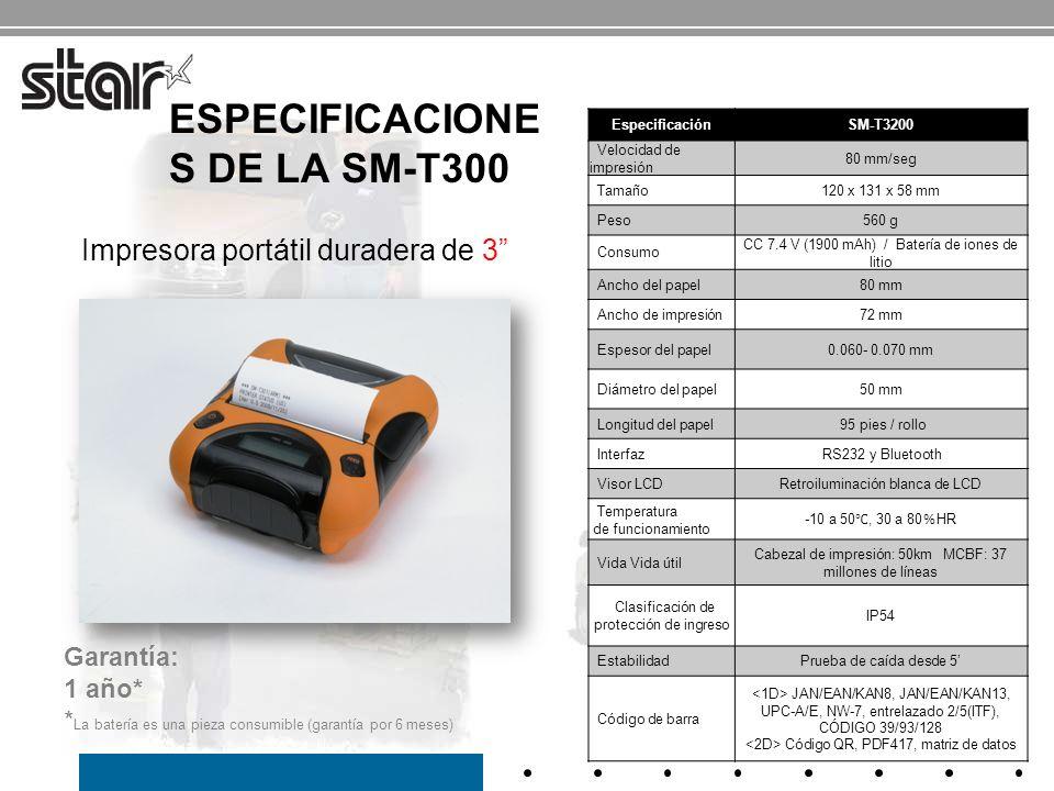 Especificaciones de la SM-T300