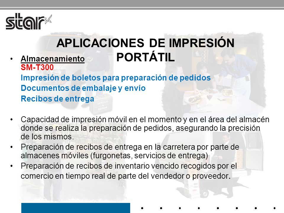 APLICACIONES DE IMPRESIÓN PORTÁTIL