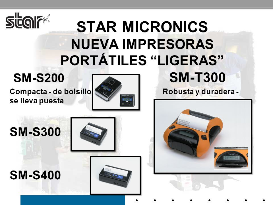Star Micronics NUEVA impresoras portátiles ligeras